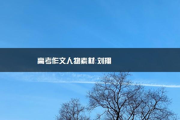 高考作文人物素材:刘翔