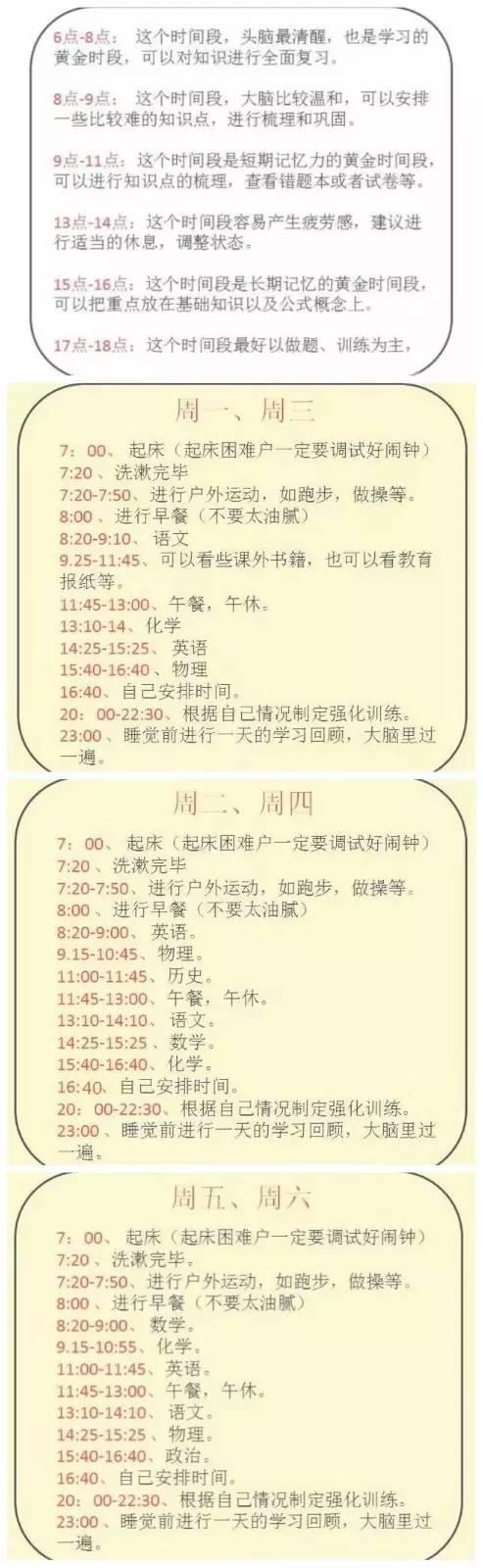 """准高三逆袭秘籍:来自清华学霸的一份""""暑期计划表"""""""