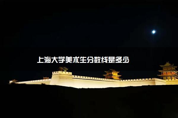 上海大学美术生分数线是多少
