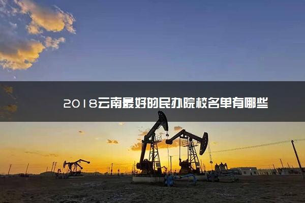 2018云南最好的民办院校名单有哪些