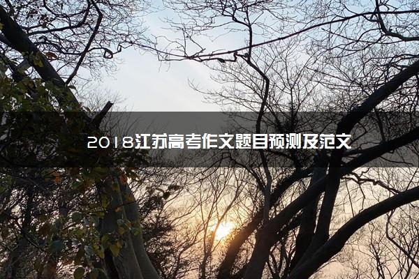 2018江苏高考作文题目预测及范文