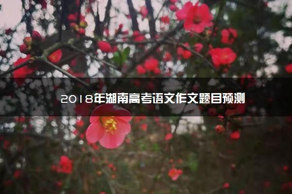 2018年湖南高考语文作文题目预测