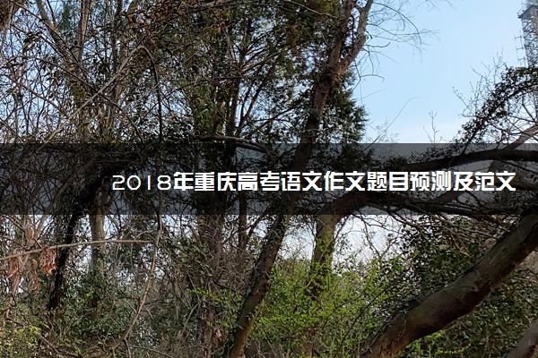 2018年重庆高考语文作文题目预测及范文