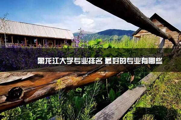 黑龙江大学专业排名 最好的专业有哪些