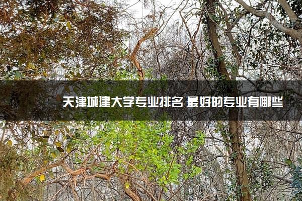 天津城建大学专业排名 最好的专业有哪些