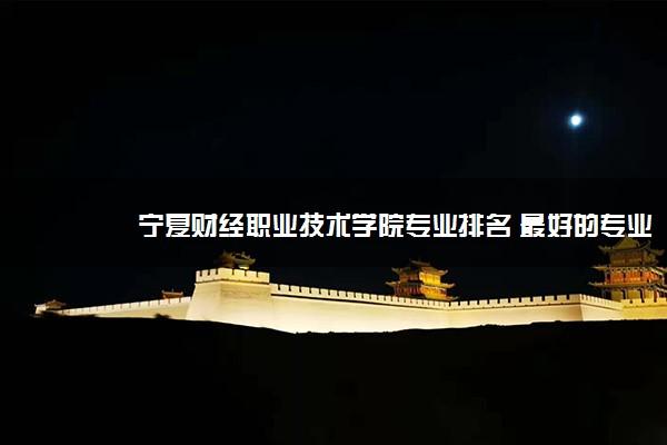 宁夏财经职业技术学院专业排名 最好的专业有哪些