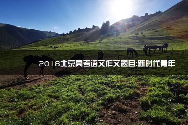 2018北京高考语文作文题目:新时代青年、绿水青山图