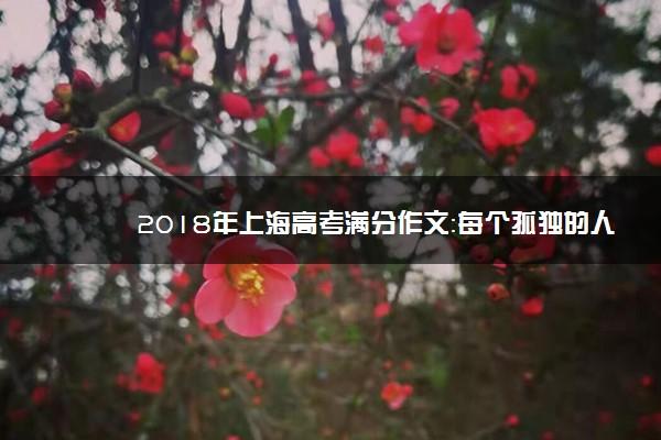 2018年上海高考满分作文:每个孤独的人都渴望被需要