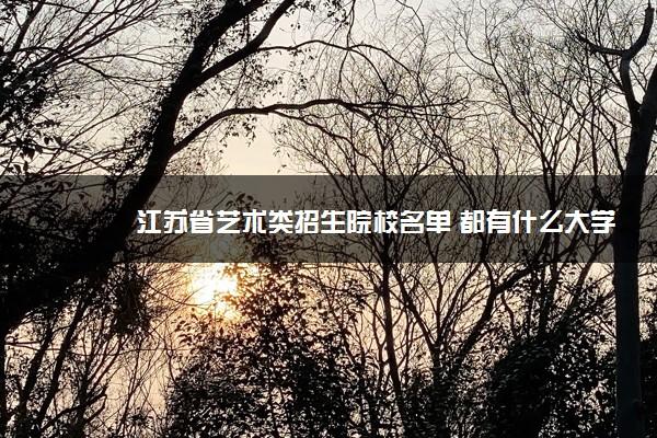 江苏省艺术类招生院校名单 都有什么大学