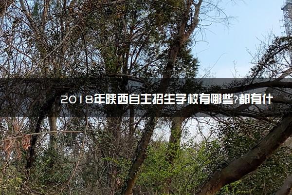 2018年陕西自主招生学校有哪些?都有什么学院名单