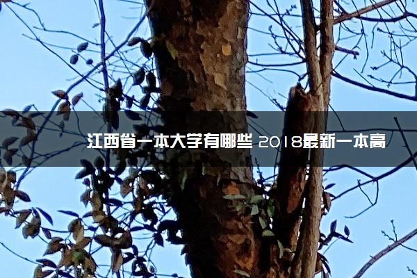 江西省一本大学有哪些 2018最新一本高校名单