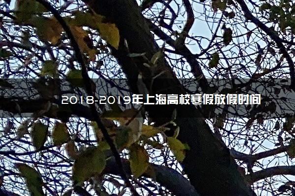 2018-2019年上海高校寒假放假时间安排