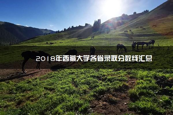 2018年西藏大学各省录取分数线汇总