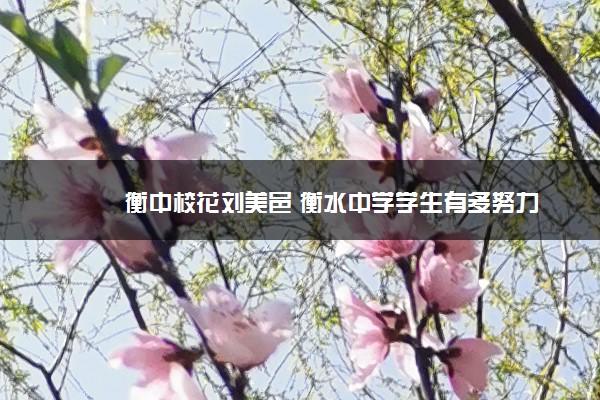 衡中校花刘美邑 衡水中学学生有多努力