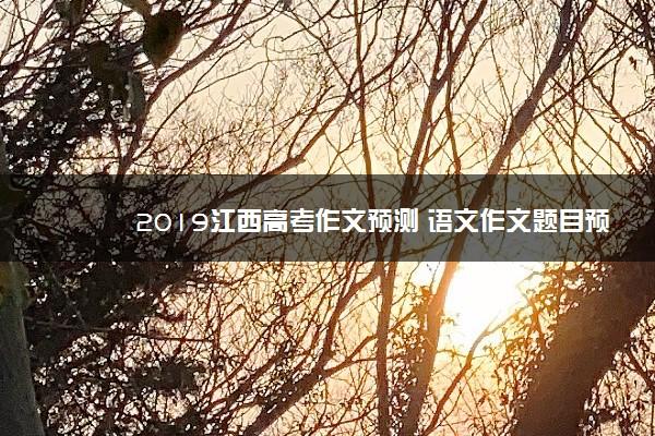 2019江西高考作文预测 语文作文题目预测及范文