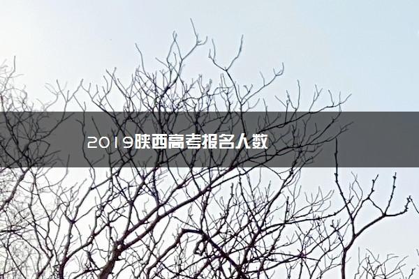 2019陕西高考报名人数