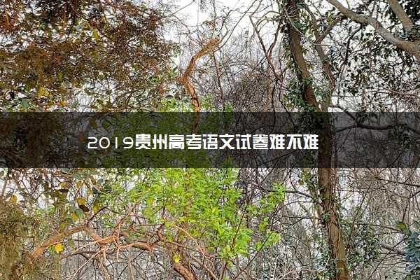 2019贵州高考语文试卷难不难