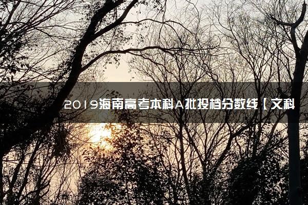 2019海南高考本科A批投档分数线【文科 理科】
