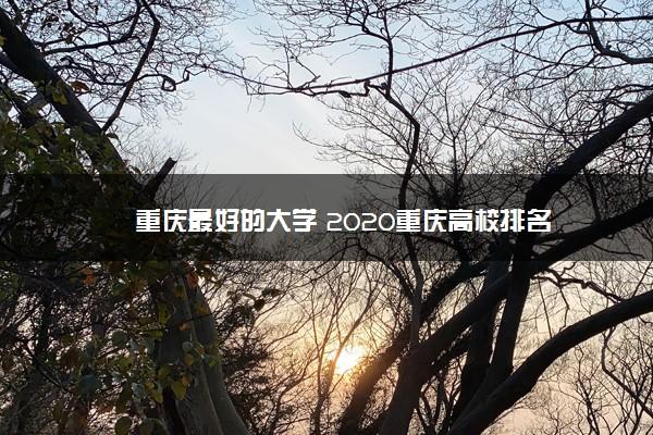 重庆最好的大学 2020重庆高校排名