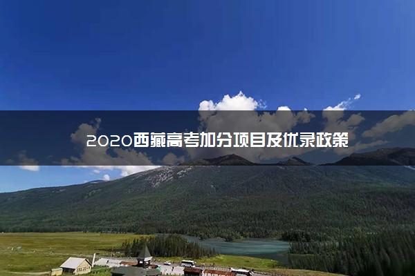2020西藏高考加分项目及优录政策