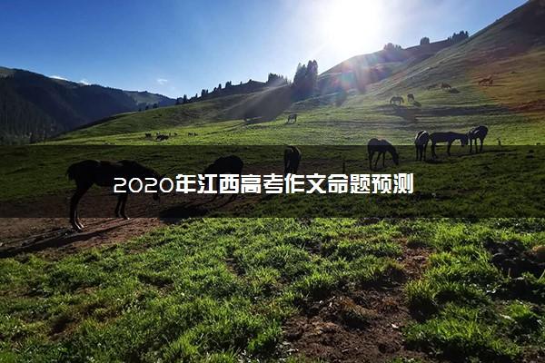 2020年江西高考作文命题预测