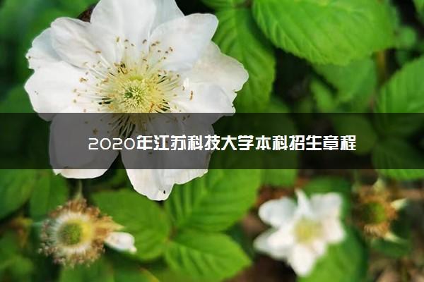 2020年江苏科技大学本科招生章程