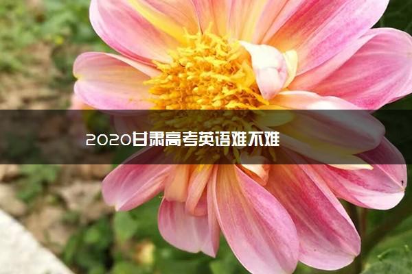 2020甘肃高考英语难不难