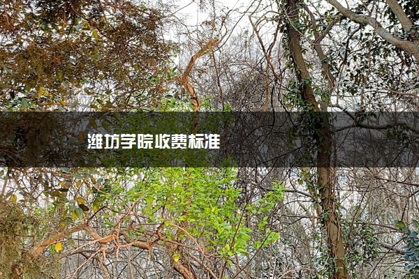潍坊学院收费标准