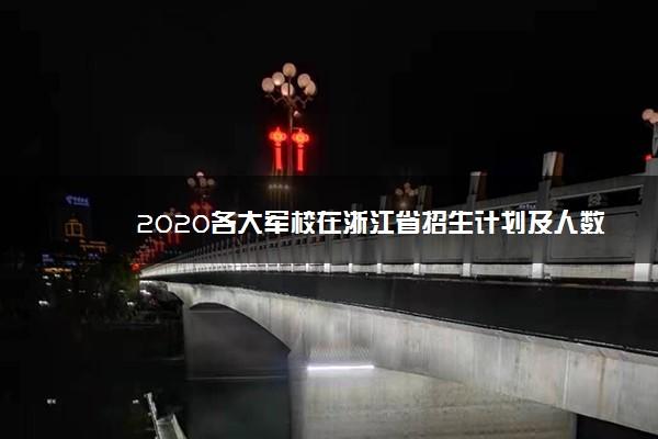 2020各大军校在浙江省招生计划及人数