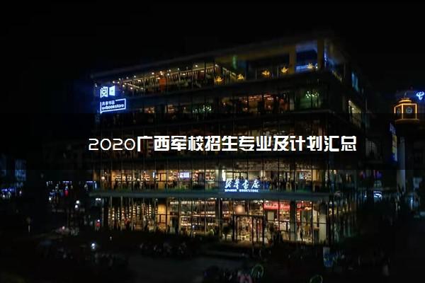 2020广西军校招生专业及计划汇总