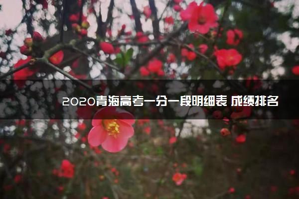 2020青海高考一分一段明细表 成绩排名