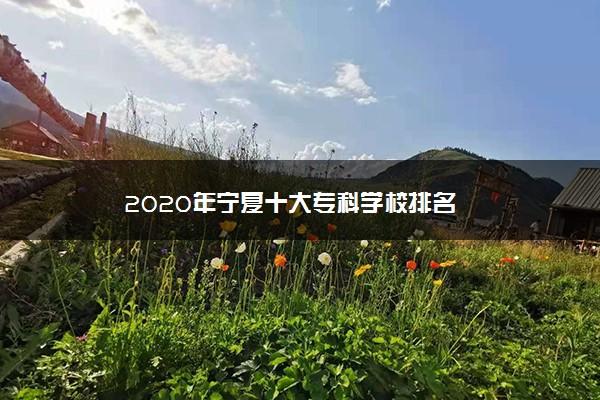 2020年宁夏十大专科学校排名