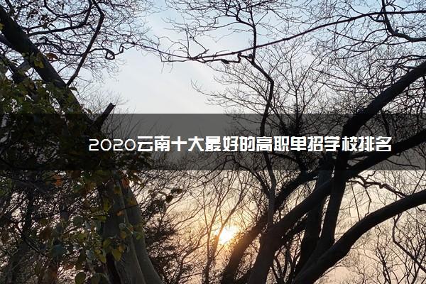 2020云南十大最好的高职单招学校排名