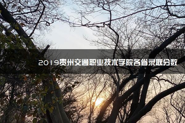 2019贵州交通职业技术学院各省录取分数线一览表