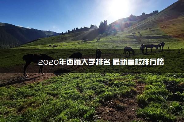 2020年西藏大学排名 最新高校排行榜