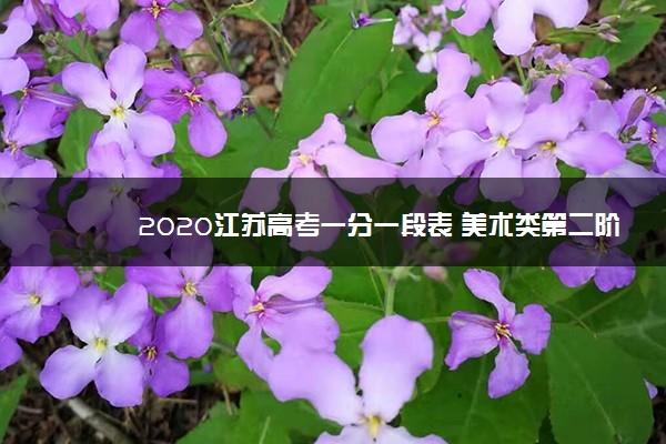 2020江苏高考一分一段表 美术类第二阶段成绩排名