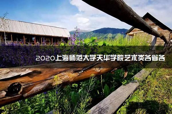 2020上海师范大学天华学院艺术类各省各专业录取分数线
