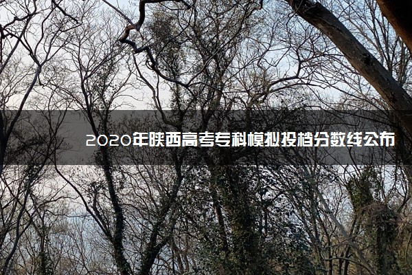 2020年陕西高考专科模拟投档分数线公布