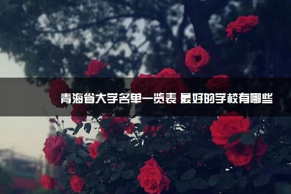 青海省大学名单一览表 最好的学校有哪些