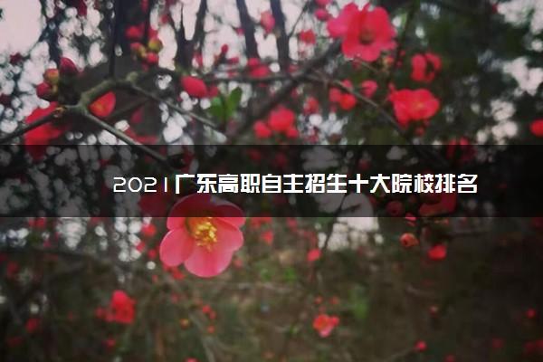 2021广东高职自主招生十大院校排名
