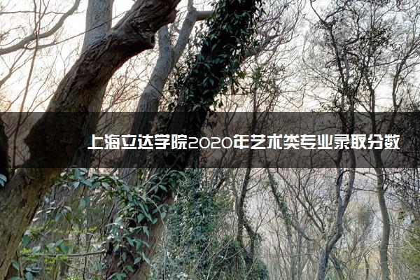 上海立达学院2020年艺术类专业录取分数线是多少
