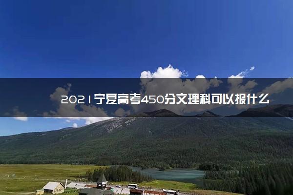 2021宁夏高考450分文理科可以报什么大学