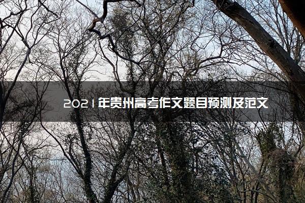 2021年贵州高考作文题目预测及范文