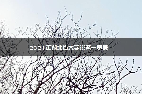 2021年湖北省大学排名一览表