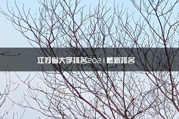 江苏省大学排名2021最新排名