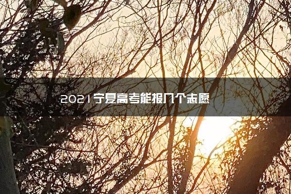2021宁夏高考能报几个志愿