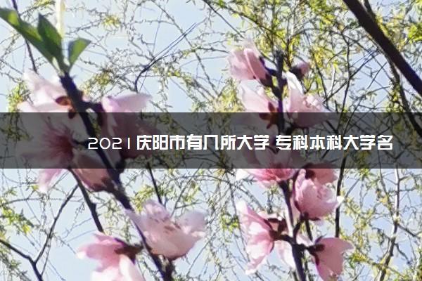 2021庆阳市有几所大学 专科本科大学名单