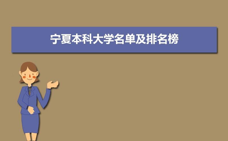 2021年宁夏本科大学名单及排名榜,宁夏十大本科大学排名数据