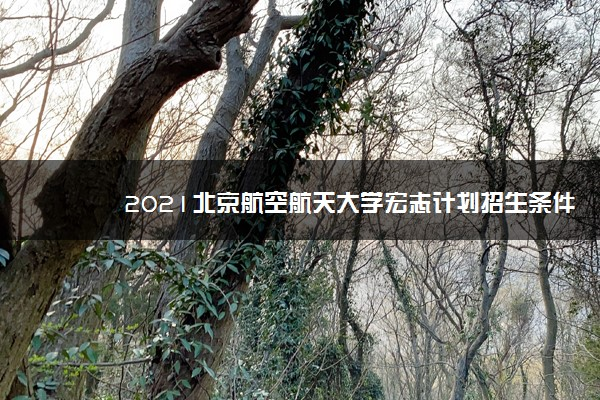 2021北京航空航天大学宏志计划招生条件及计划