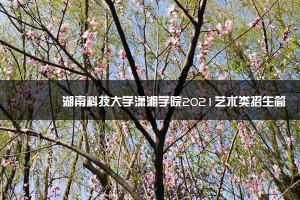 湖南科技大学潇湘学院2021艺术类招生简章 录取原则是什么